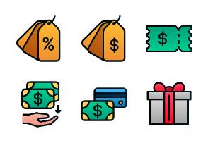 E-Commerce (Filled Line Gradient)