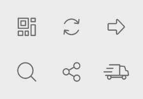E-Commerce set in line style