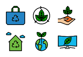Eco power filled outline