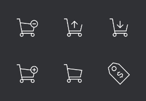 Ecommerce Thinline Icons Set