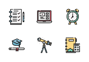 Education Color Iconset