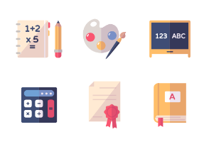 Education Icons - Set 1