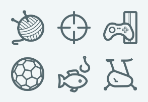 ELASTO Sport and hobby Flat & Outline icons
