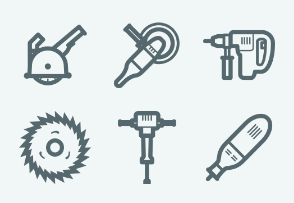 ELASTO Power Tools Flat & Outline icons