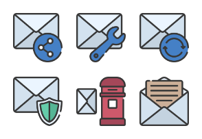 Envelopes And Mail Soft Fill