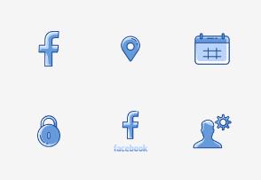 Facebook UI - Twotone