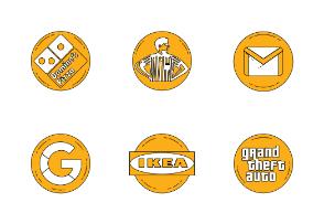 Famous logos in Orange