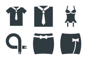 Fashion and Clothes Glyphs 4