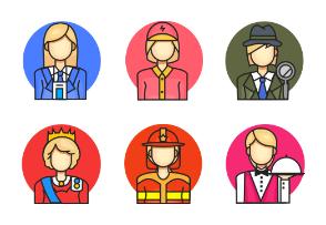 Female Profession Colour Circle