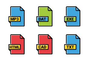 File Types Filled Outline