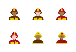 Firefighters and lifesavers avatars