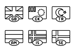 Flags - Outline