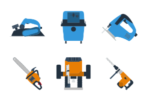 Flat design tools icons