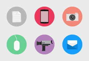 Flat Designed Circle icon