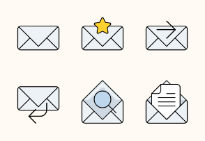 Flat Field Email icon set