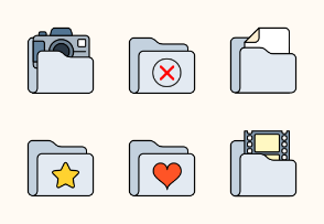 Flat Field Folder icon set
