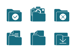 Flat Field Mono - Folder Icon Set