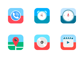 Flat Mobile App Icons