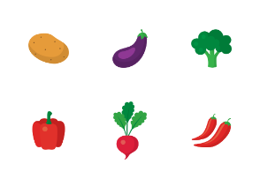 Flat Simple Vegetable