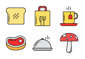 Fillicons: Food & Drinks