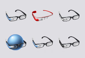 Free Google Glass Icon Set