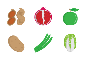 Fruit and vegetable 2 - Flat