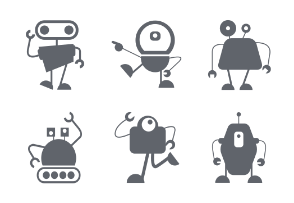 Funny Robot Character