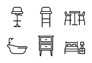 Furniture Home Living LineArt