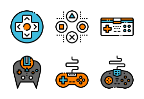 Game accessorie filled outline