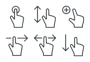 Gestures - Stroke Icons