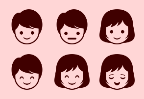 Girl and Boy emoticons