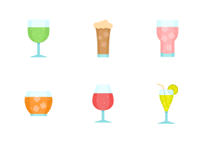 glass and beverage color icon