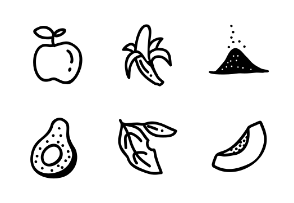 Hand Drawn Fruits, Spices and Herbs