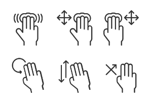 Hand Gesture Icons set 3
