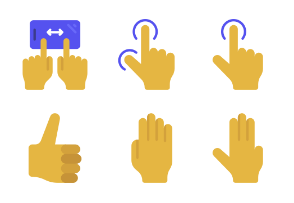 Hands And Gestures - Flat