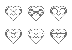 Hearts with Sunnies