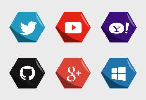Hexagon Social Medias
