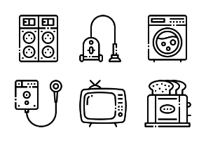 Home appliances outline