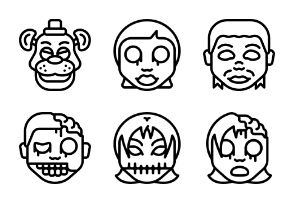 Horror Emoji - Outline