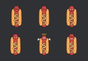 Hot Dog and Mustard Cartoon Emoji