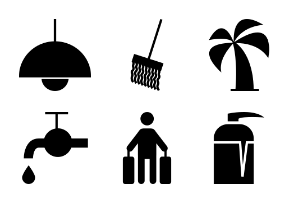 Hotel and Restaurant Solid Icons Vol 2