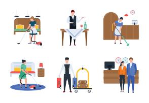 Hotel Service, Staff, Chef, Waiter and Receptionist