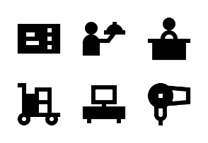 Hotel Services Glyph 24 px