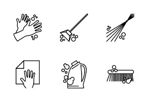 House Cleaning Equipment - Outline