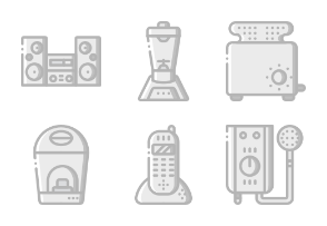 Household Appliances - Greyscale
