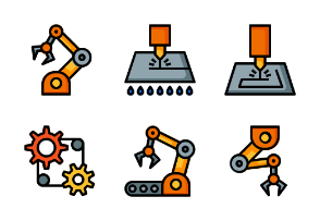 Industry and Manufacture (Filled Line)
