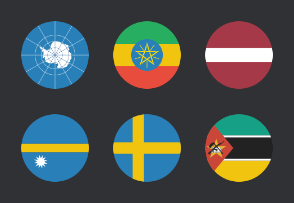 International Circular Flags