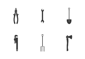 Inventory and tools silhouette