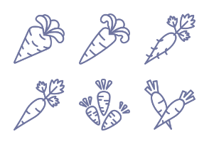 Jellycons - Outline - Vegetables