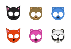 Kawaii animal masks